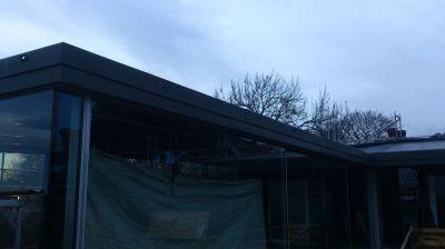 Ul. Bygdoy, Oslo-Norwegia 2013r – budynek prywatny-basen Wykonanie częściowe pokrycia dachu płaskiego wraz z obróbkami blacharskimi